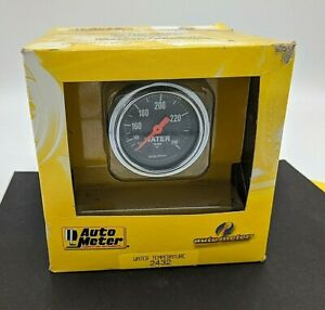 Auto Meter Chrome Mechanical Temperature Gauge 2432