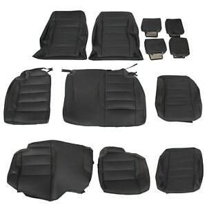 Black Leatherette Seat Covers Kit For 2008 10 Jeep Wrangler Salsa 4 Door