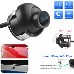 Car Rear View Side Mirror Ccd Front Backup Reversing Parking Hole Camera Kit