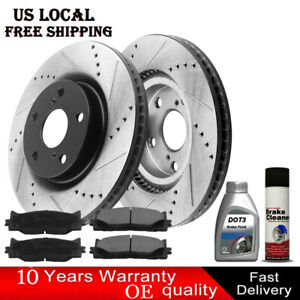 Front Rear Brake Rotors Ceramic Pads For 2007 2008 2009 2010 2011 Toyota Camry