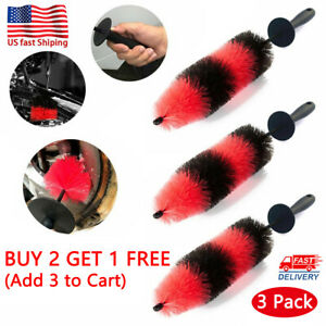 17 Portable Car Auto Brush Wheel And Rim Detailing Brushes Long Soft Bristle Us