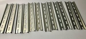 12 Pieces 12 Inch Long Din Rail Slotted Steel Zinc Plated Wego Brand