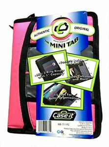 Case it Mb 711 fg Durable Mini 1 inch Zipper Binder With Tabs
