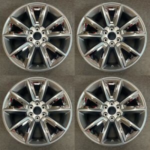 4 Pcs 22 Grey Wheel For 15 20 Chevy Silverado Suburban Tahoe Oem Quality 5696