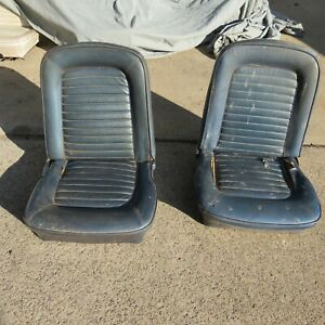 1965 1966 Mustang Bucket Seats Set Left Right Pair Seat Oem Used
