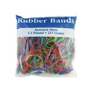 Bazic Multicolor Rubber Bands Assorted Large Medium Small Sizes Thickness