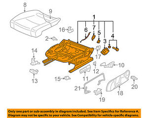 Vw Volkswagen Oem 07 09 Gti Front Seat seat Cushion Frame Right 1k4881106nd