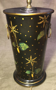 Wildwood Lamps Star Flower Tole Table Lamp In Hand Painted Toleware 10961 2