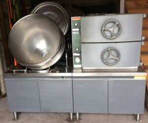 Market Forge Electric Steamer Oven And Satellite Tilting Kettle Mt40 40 Gal