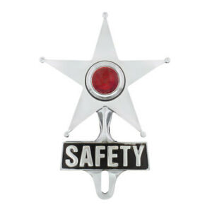 United Pacific Safety Star License Frame Ornament Red C5046
