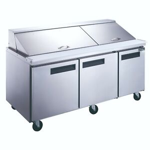 Dukers Mega Top 72 Refrigerated Sandwich salad Prep Table Cooler Dsp72 30m s3