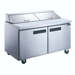Dukers Two Door 60 Refrigerated Sandwich salad Prep Table Cooler Dsp60 16 s2