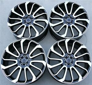 Set 4 22 22x9 5 5x120 New Black Wheels Fit Range Rover Supercharger Sport Hse