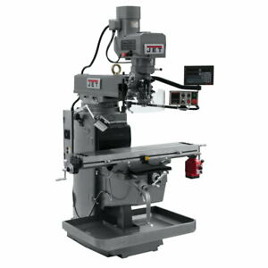 Jet 690639 Jtm 1050evs2 230 Mill W 3 axis Newall Dp700 Dro knee W X axis Pwr