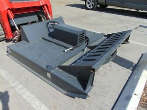 New 72 Deck Bush Hog Rotary Blade Mower Land Clearing Skid Steer Attachment