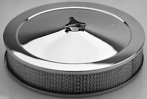 Proform 66801 Deluxe Low Profile Air Cleaner 14 In Chrome
