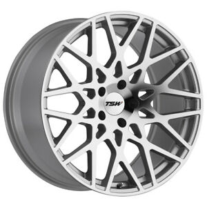 Staggered Tsw Vale Front 19x8 5 Rear 19x9 5 5x120 Silver mirror Wheels Rims