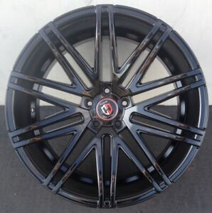 22 Inch Curva C48 Wheels Tires Black Porsche Panamera Staggered Rims Concave