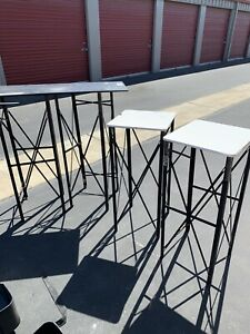 Trade Show Booth Dynamic Display Pop Up 8 Pedestals 2 Crates pay Actual Ship