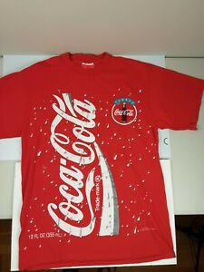 Vintage Coca-Cola T-Shirt 1994 Lg AllOver Print Always Coca-Cola Men's Red Rare