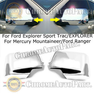 For 2007 2010 Ford Explorer sport Trac Abs Chrome Mirror Covers