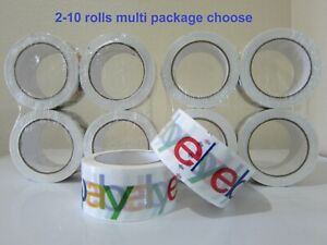 Lot 2 3 4 5 6 10 Rolls Official Ebay Logo Brand 75 Yard 2 Packing Shipping Tape