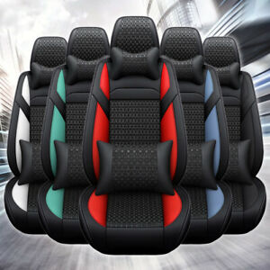Luxury Car Seat Cover Four Seasons Universal Leather Ice Silk Protector Cushion