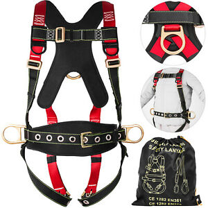 Full Body Safety Harness Fall Protection 3d ring Back Support Belt Shoulder Pad