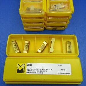 5 Pcs Kennametal Gr4250 Carbide Grooving Inserts Grade Kc730 Machinist