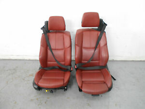 2011 08 09 10 12 13 Bmw M3 E93 Front Red Power Heated Leather Seats 4148