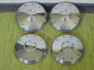 60 61 62 Ford Dog Dish Hub Caps 10 1 2 Set Of 4 Poverty Hubcaps 1960 1961 1962