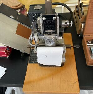 Kingsley Hot Foil Stamping Embossing Machine Model M 60 W Lots Of Accessories