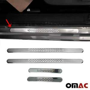 Fits Volvo Xc60 2018 2020 Door Sill Plate Cover Trim Stainless Steel 4 Pcs
