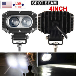 4 Cree Led Driving Spot Lights 6500k Headlight Lamps Square Offroad 4x4 Pk 5