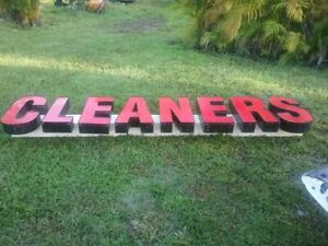 Store Front Letters Exterior Signs Light Letters Signs With Lights Cleaners