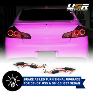 Turn Oe Tail Light Led To Turn Signal Module Pair For 03 13 Infiniti G35 G37 4d