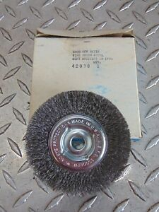 New Curtis 42038 2000 Key Matic Wire Brush Wheel Soft Bristles S0 1750