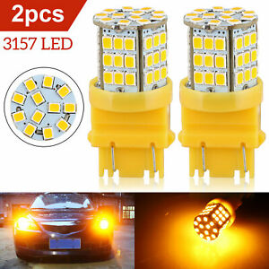 3157 3057 57 Smd Led Amber Yellow Drl Turn Signal Parking High Power Light Bulbs