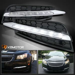 For 2011 2014 Chevy Cruze Smd Led Fog Lights Driving Lamps bezels Left right