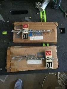 Nos 1963 Ford Galaxie 500 Xl Fender Emblems Pair Very Rare