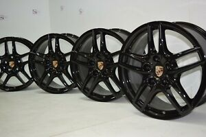 19 Porsche Cayenne Turbo Factory Oem Original Black Wheels Rims 19 Inch