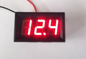 Bbt 2 Wire Red Led Digital 12 Volt Dc Voltage Meter