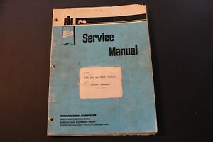 International Harvester Ih 234 244 254 Tractors Service Manual Gss 1507 1