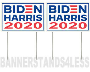 8x12 Inch Biden Harris 2020 Yard Sign With Stake Wb 2 Pack