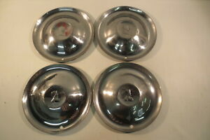1950 s Vintage Chrysler Desoto Hubcaps 15 Wheel Covers Fireflite Sportsman