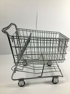 Toy Mini Doll Metal Grocery Store Buggy Shopping Cart Basket