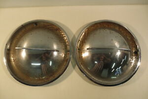 1940 s 1950 s Vintage Ford Mercury Hollywood Flipper Hubcaps Hub Caps Moon Cover