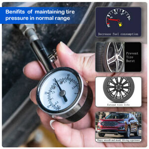 Small Heavy Duty Automotive Tire Air Pressure Gauge Meter For Car Truck 0 60 Psi