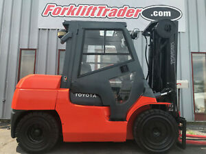 2009 Toyota 7fdku40 9000lb Pneumatic Tire Forklift With Cab