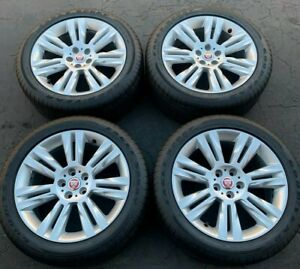 Set Of 4 2016 2019 Jaguar Xf 18 Oem Chalice Alloy Wheels And Tires 59924